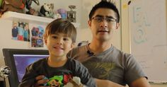 Watch The Ingenious Way This Dad Makes Breakfast And Playtime With His Son 'Super' Fun