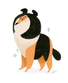 Different Drawing Styles, Types Of Art Styles, Dog Illustration, Character Illustration, Cat Illustrations, Animal Design, Dog Design, Orang Utan, Dog School