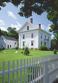 Greek Revival Farmhouse love this type of greek revival upright-and-wing farmhouse