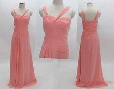 Bridesmaid Dress - Long Bridesmaid Dress / Peach Bridesmaid Dress / Summer Bridesmaid Dress / Prom Dress / Long Prom Dress / Evening Dress