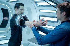 Benedict Cumberbatch is John Harrison and Karl Urban is McCoy in Star Trek: Into Darkness -   Two fav men in one pic!