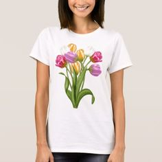 Tulip TShirt For women spring flowers - click to get yours right now!