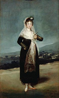 La Tirana( Marquesa de Santiago) , Francisco José de Goya y Lucientes, 1792, Real Academia de Bellas Artes de San Fernando.