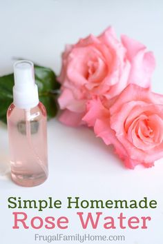 Make your own homemade rose water to pamper your skin. This is a super easy beauty DIY project. It's so easy you'll wonder why you haven't done it before. Skip the expensive rose water at the store and make your own with this simple rose water recipe.