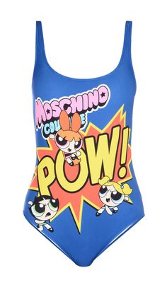 Powerpuff Girls x Moschino one piece swimsuit