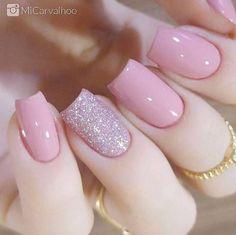 Light Pink Nails, Neon Nails, Glitter Nails, Pastel Nails, Stiletto Nails, Pink Glitter, Gorgeous Nails, Pretty Nails, Pink Nail Designs