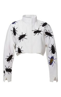 Silk Faille Swarm Crop Jacket by Azede Jean-Pierre at Moda Operandi
