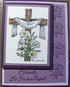 all stamps are from Northwoods stamps.  This card definitely expresses the reason for the  Easter season.