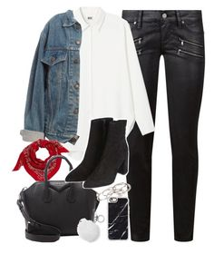 """Outfit for an autumn date"" by ferned ❤ liked on Polyvore featuring Paige Denim, Levi's, Yves Saint Laurent, Givenchy, Topshop, Pieces, Casetify and Michael Kors"