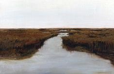 "Magothy Bay Marshland © Barbara J Hart. Oil on canvas. 11"" x 14"""