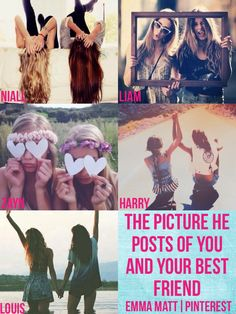 One direction preference-The picture he posts of you and your best friend  I like Nialls, Liams, and Harrys.. Funny Story.. I saw Harry's and I thought of AKOTW