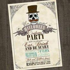 vintage halloween invitation - Google Search