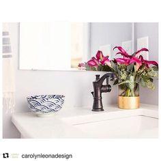 #Repost @carolynleonadesign with @repostapp ・・・ Powder room style #raleigh