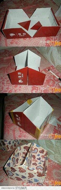 boîte 2 compartiments à partir d'une boîte à chaussures