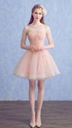 Burgundy Homecoming Dresses, Pink Prom Dresses, Pretty Dresses, Bridal Dresses, Short Dresses, Affordable Prom Dresses, Moda Chic, Flowing Dresses, Short Prom