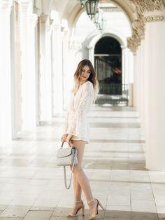White Dress, Chic, Purple, Blog, Dresses, Fashion, Shabby Chic, Vestidos, Moda