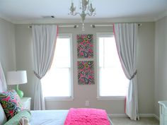 Curtain Idea For Windows Side By Doesn T It Make The Room Look Ger