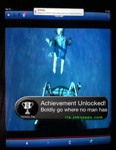 Check out this great Real Life Achievement photo! They also have an app available to create your own at: http://rla.jebsapps.com/app