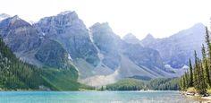 Mt. Bowlen and Moraine Lake, Banff Park, Alberta, Canada