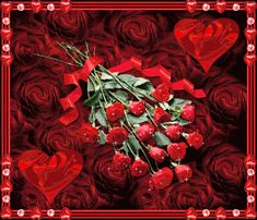 Happy Rose Day GIF Animated Glitters Animation Images 2018 for Girlfriend, Boyfriend, Lover, Wife & Husband Roses Valentines Day, Valentine Day Love, Flowers Gif, Love Flowers, Roses Gif, Monika Martin, Gif Fete, Happy Sweetest Day, Glitter Gif