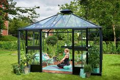 Get clever - use a Greenhouse DIY Kit to build your own She Shed and get yourself a beautiful garden room and a gateway place under the sky. Greenhouse Farming, Cheap Greenhouse, Greenhouse Effect, Backyard Greenhouse, Greenhouse Growing, Greenhouse Plans, Homemade Greenhouse, Portable Greenhouse, Greenhouse Wedding
