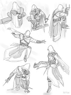 Body Physics and - Yıldız Fırsat Assasing Creed, Drawing Reference Poses, Drawing Poses, Character Drawing, Character Design, Assassin's Creed Hidden Blade, Assassins Creed 1, Graphic Novel, Drawing Tips