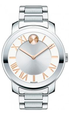 Rose goldtone accents offer a bold new look. Movado BOLD. Boss SH*T check out hip hop beats @ http://kidDyno.com