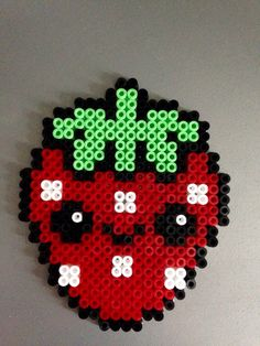 Kawaï Strawberry (Perles Hama / Perler Beads)