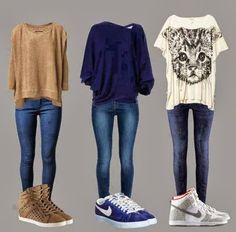 3 Different Shirts With jeans And Shoes Click the picture to see more