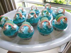 cute rainbow cupcakes