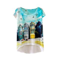Drop Shipping Lady Colorful 3D Women Harajuku Short Sleeve Cute Cat Printed Girls Ladies Tops T-shirt White Cloth #Affiliate