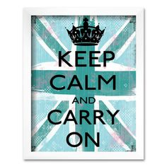 """Artwork at Kohl's - Shop our full selection of art, including this Art.com """"Keep Calm and Carry On"""" Framed Art Print by Louise Carey, at Kohls.com.  #keepcalm #coupons"""