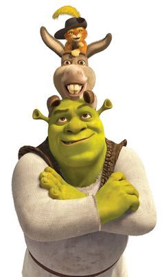Puss, Donkey and Shrek