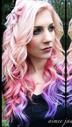 Pink purple hair @aimeejadore on instagram