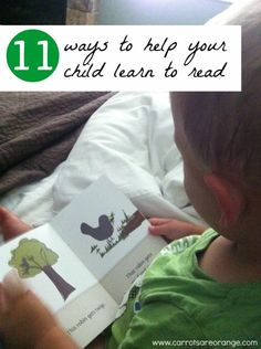 11 ways to help your child learn to read - guest post by Marnie of Carrots Are Orange at One Perfect Day