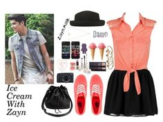 """""""Ice Cream With Zayn"""" by sabrina-emo ❤ liked on Polyvore featuring Vero Moda, Topshop, Vans, Fujifilm and Gorjana"""