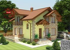 Proiecte de case pe teren de 300 mp. Constructii deosebite Dream Home Design, My Dream Home, Exterior Colors, Exterior Design, Bungalow House Design, Facade House, Design Case, Home Fashion, Home Projects