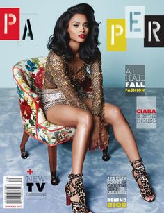 Ciara on the cover of Paper Magazine
