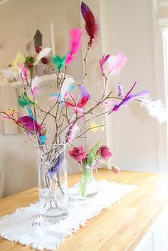 Fastelavnsris as simple decorations Fastelavnsris as simple decorations - Gartenkunst Diy Arts And Crafts, Diy Crafts, Diy For Kids, Crafts For Kids, Teen Room Designs, Kids Carnival, Partys, Floral Bouquets, Spring Crafts