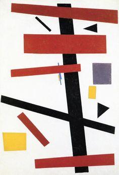 Suprematisme Nr. 50 ~ 1917 ~ Olieverf op doek ~ 97 x 66 cm. ~ Stedelijk Museum, Amsterdam