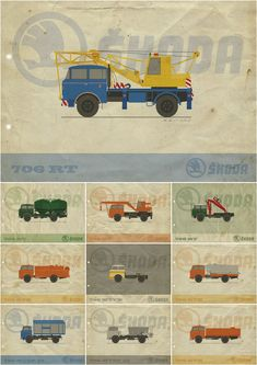 My Works, Cars And Motorcycles, Trucks, Retro, Behance, Illustrations, Design, Strollers, Illustration
