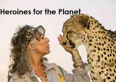 "Heroines for the Planet with world-changing woman, Dr. Laurie Marker. (You could call her the ""Cheetah Whisperer"" if you'd like!)"