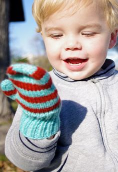Stars or Striped Mittens from Petite Purls