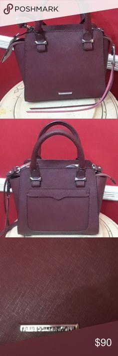 NWT Rebecca Minkoff Micro Avery Tote Fabulous burgundy colored handbag Bags Totes
