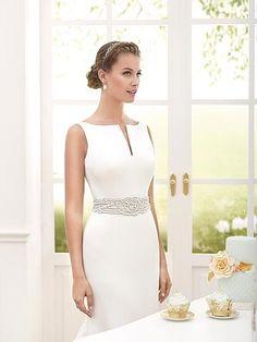 Novia d'Art Wedding Dresses in Brighton and Sussex Satin Formal Dress, Formal Dresses, Ball Gown Dresses, Evening Dresses, Couture Dresses, Fashion Dresses, Civil Wedding Dresses, Wedding Gowns, Tea Length Wedding Dress