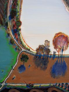 Wayne Thiebaud. Ponds and Streams, 2001. de Young Musuem, SF