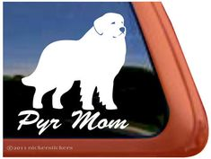 "Great Pyrenees Mom - DC351MOM - High Quality Adhesive Vinyl Window Decal Sticker - 5"" tall x 4.5"" wide on Etsy, $7.29"