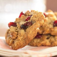 Cranberry Walnut Oatmeal Cookies Allrecipes.com:  Use Coconut oil instead of the shortening.  To die for!