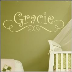 Put a name on the nursery wall.  This one is adorable.
