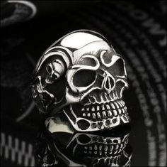 HOT SALE - Biker Skull Ring - 3 colors available